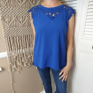 NEW Stitch fix Brixon Ivy blue lace blouse medium